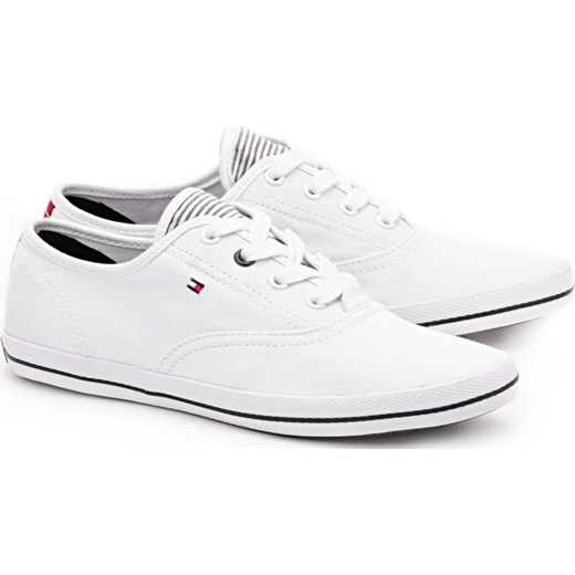 294578758e9b4 Victoria 1D - Białe Canvasowe Trampki Damskie - FW56816883 mivo bialy buty  na lato ...