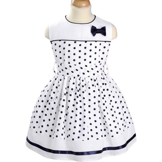 0dbad590 Urocza sukienka wizytowa dla dziewczynki 122 - 152 Bernatka blumore-pl  bialy bawełniane