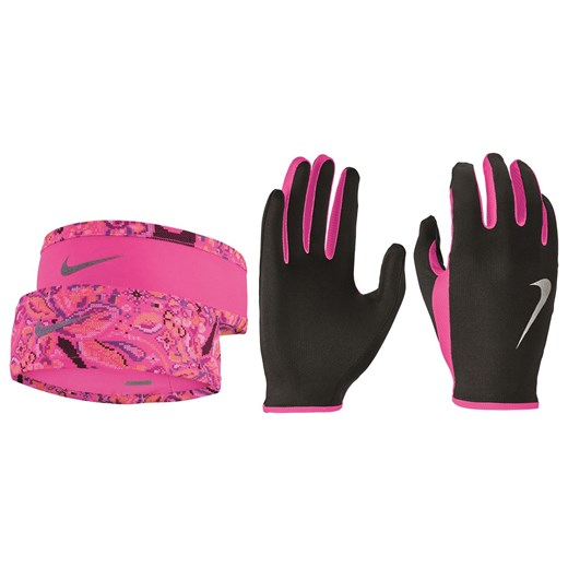 Nike Running Headband and Glove Set Ladies Nike M Factcool