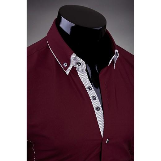 ART 20 KOSZULA MĘSKA BORDOWA ozonee pl brazowy koszule w Domodi  YzoAZ