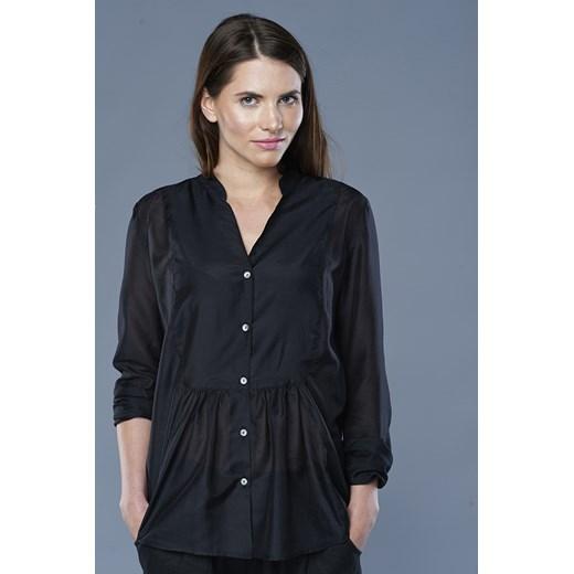 Batystowa koszula showroom pl czarny marszczone w Domodi  F1LMD