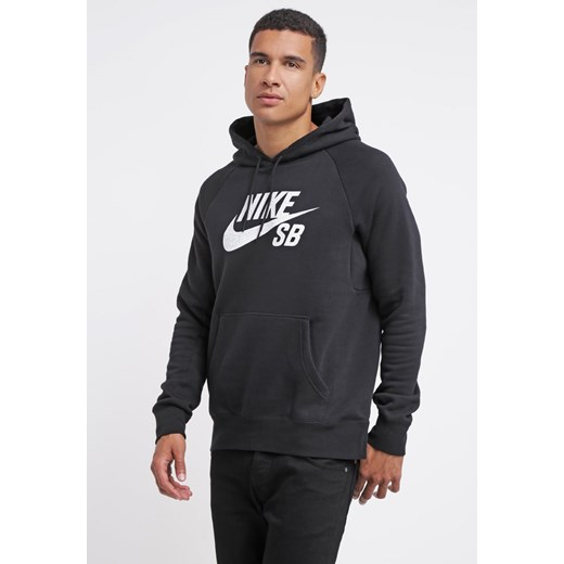 Nike SB Bluza blackwhite zalando szary bawełna