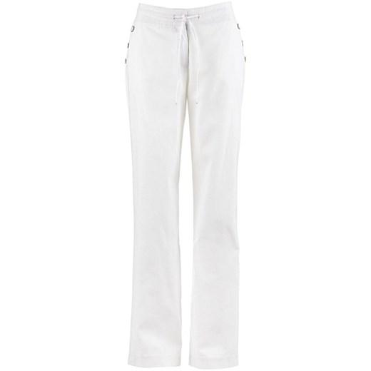 Szerokie spodnie lniane bonprix bawełna