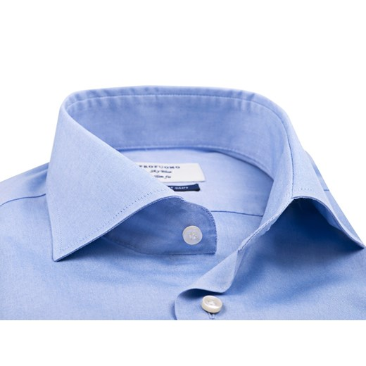 Elegancka niebieska koszula męska Profuomo Smart Shirt Extra  qJBTe