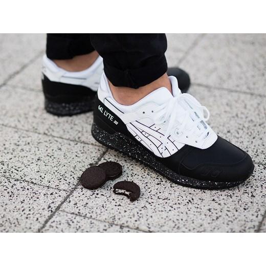 Buty męskie sneakersy Asics Gel Lyte III Oreo Pack H6T1L 0101 szary sneakerstudio.pl