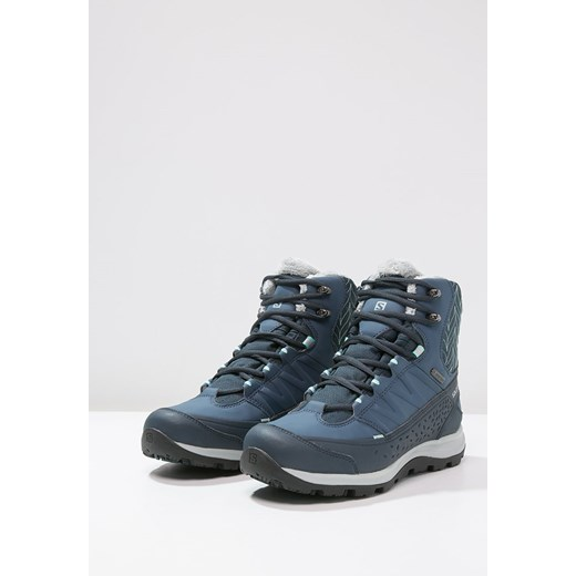 Salomon KAINA GTX Śniegowce deep blueslate bluebubble blue