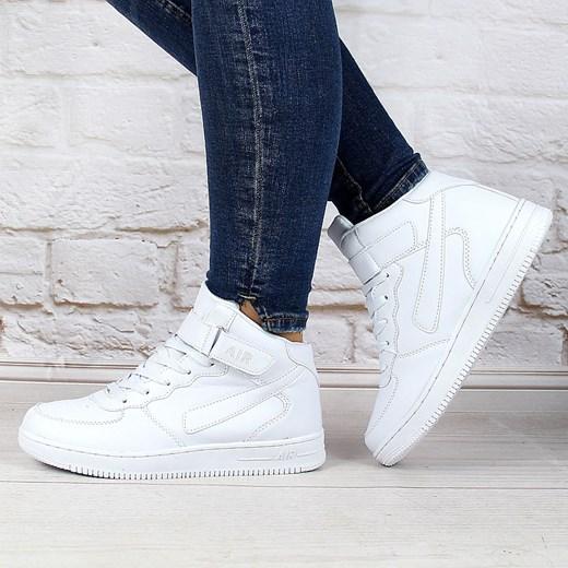 Sportowe buty białe wysokie na rzep Xcore Badoxx ButyRaj.pl