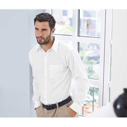 Koszula biznesowa, niewymagająca prasowania, biała tchibo  8MAqN