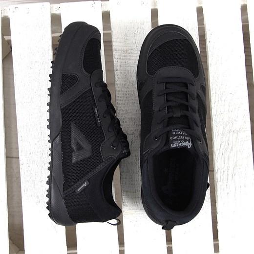 Czarne buty męskie sportowe z siatką American Club ButyRaj