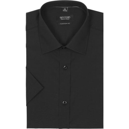koszula versone cod4 krótki rękaw custom fit czarny rozowy  2iL3y