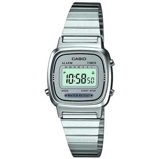 Zegarek damski Casio Retro Collection LA670WEA-7EF szary Casio  alleTime.pl