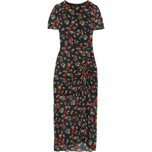 Rancho ruched floral-print chiffon maxi dress    NET-A-PORTER