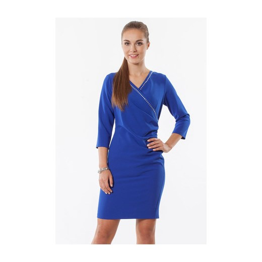 Sukienka chabrowa Klarysa niebieski Semper w Domodi