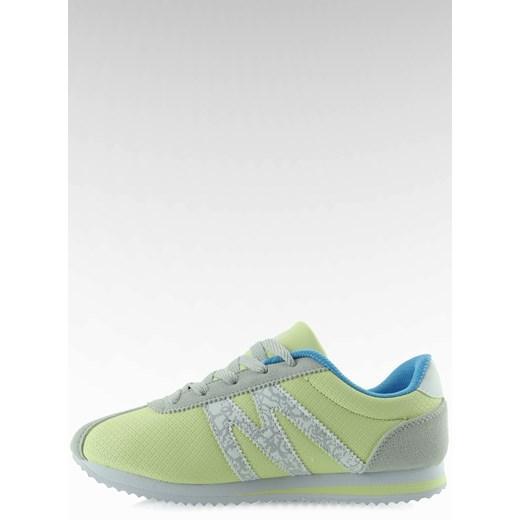 Buty sportowe bardzo wygodne B683 żółte kupbuty com zielony
