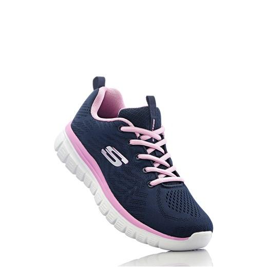 Sneakersy Skechers z pianką Memory czarny bonprix