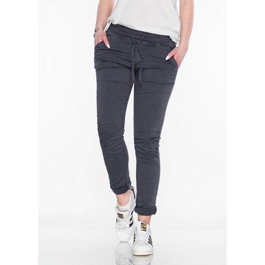 Włoskie spodnie dresowe jeans MILANO szare szary Lagattini