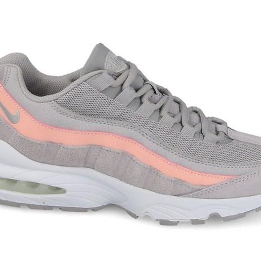 Buty damskie sneakersy Nike Air Max 95 Le (GS) 310830 011 SZARY rozowy sneakerstudio.pl