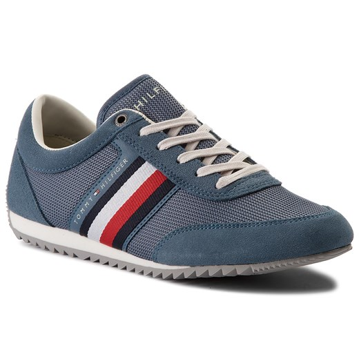 Sneakersy TOMMY HILFIGER - Corporate Material Mix Runner FM0FM01314 Jeans 013 Tommy Hilfiger  40 eobuwie.pl