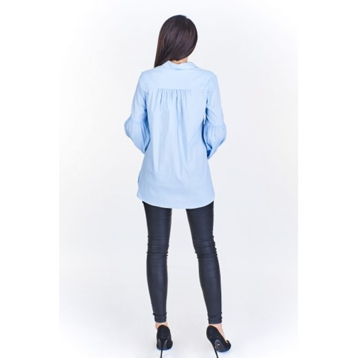 Koszulowa bluzka z ozdobnym rękawem Delray w Domodi