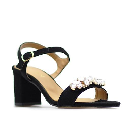 Sandały Sagan 53214 Czarne zamsz Arturo obuwie w Domodi