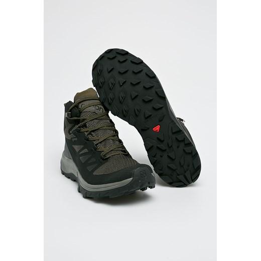 Buty trekkingowe męskie Salomon czarne sportowe wiązane