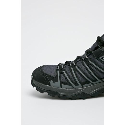 Buty trekkingowe męskie Salomon sportowe skórzane szare