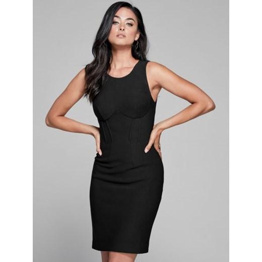 Sukienka Guess Odzież Damska TQ czarny CYIX