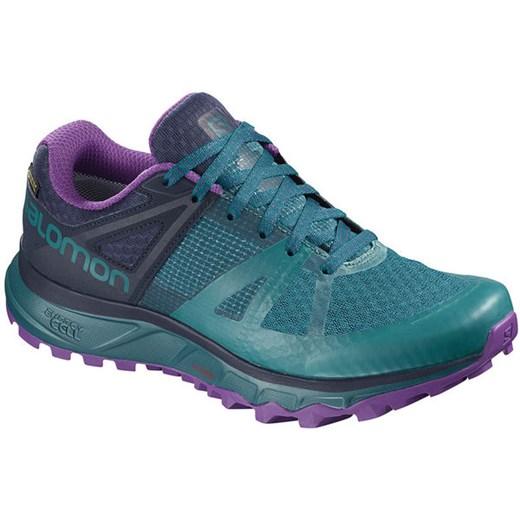 Niebieskie buty sportowe damskie Salomon sznurowane
