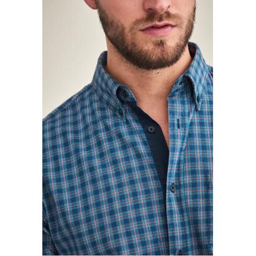 Koszula męska niebieska Tatuum z długim rękawem casual w Domodi  sF5wv