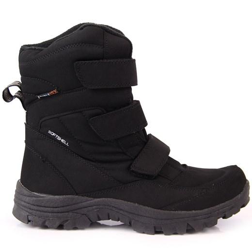 Buty zimowe męskie na rzepy w Domodi