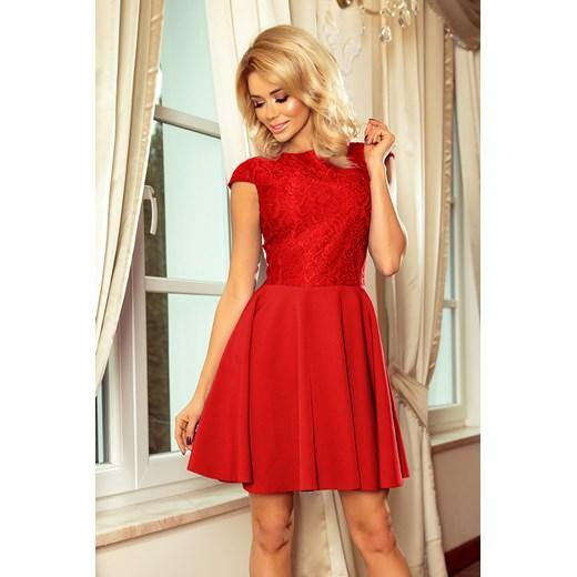 Sukienka czerwona rozkloszowana na karnawał