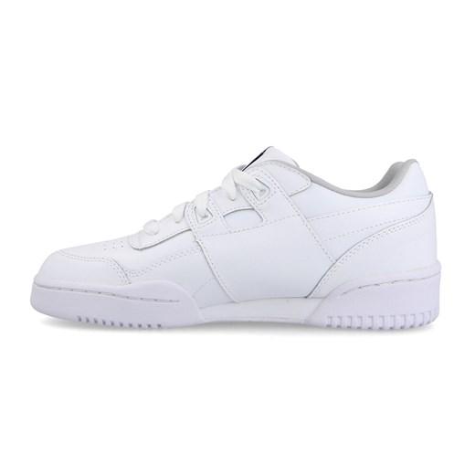 Buty sportowe damskie białe Reebok Classic workout na koturnie bez wzorów z gumy