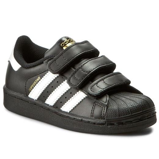 Trampki dziecięce czarne Adidas na rzepy