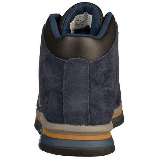 Buty zimowe męskie Timberland niebieskie z zamszu