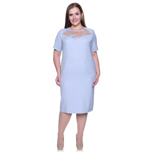 Sukienka na spotkanie biznesowe ołówkowa Odzież Damska NF niebieski LFFA