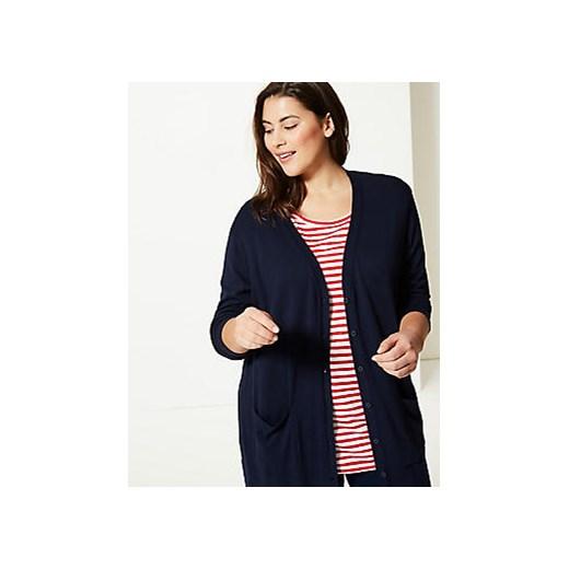 Sweter damski Marks & Spencer - Marks&Spencer Odzież Damska NF niebieski NXXT