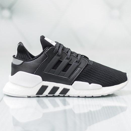 Czarne buty sportowe męskie Adidas eqt support sznurowane wiosenne