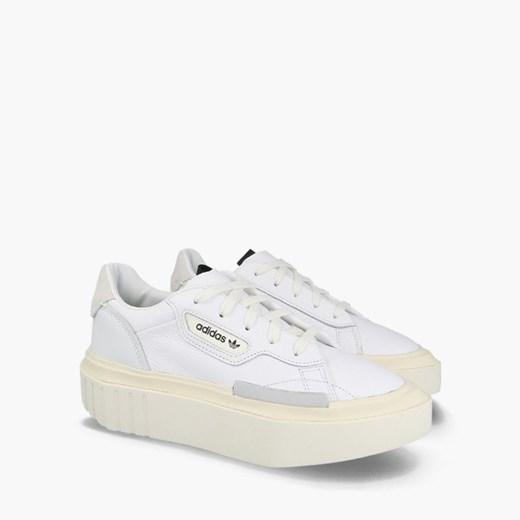 Sneakersy damskie Adidas Originals na platformie bez wzorów sznurowane