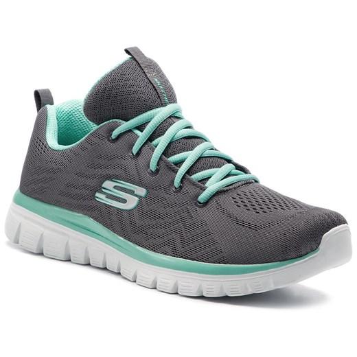 Skechers buty sportowe damskie do fitnessu niebieskie z