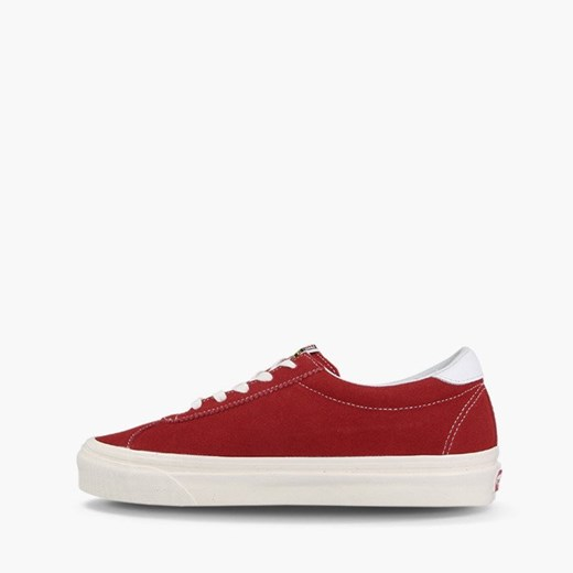 Trampki damskie Vans czerwone bez wzorów z niską cholewką na płaskiej podeszwie z gumy