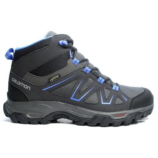 Buty trekkingowe damskie Salomon jesienne sportowe skórzane bez wzorów