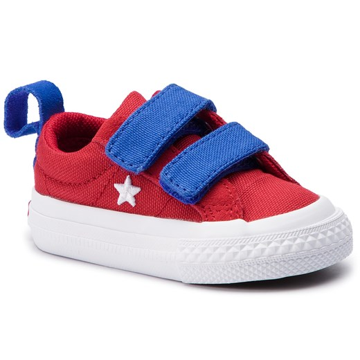 Trampki CONVERSE - One Star 2V Ox 760765C Gym Red/Hyper Royal/White  Converse 23 eobuwie.pl