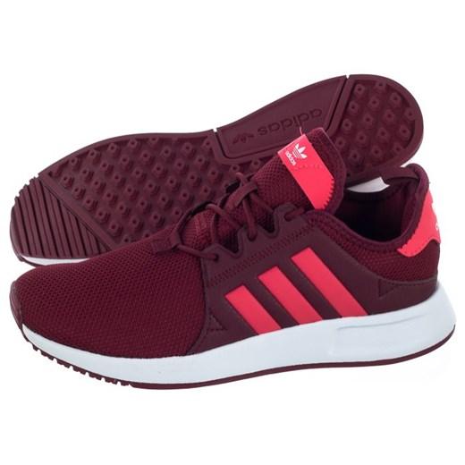 Buty sportowe damskie Adidas x_plr czerwone sznurowane z tworzywa sztucznego bez wzorów na płaskiej podeszwie