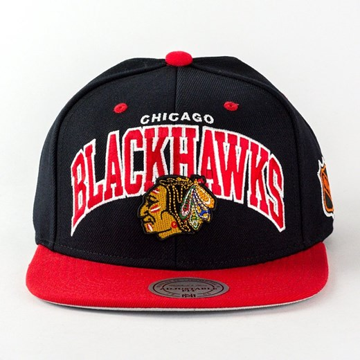 Czapka Mitchell and Ness snapback Team Arch Chicago Blackhawks black / red  Mitchell And Ness uniwersalny matshop.pl