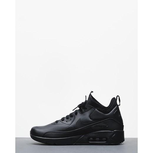 Buty sportowe męskie czarne Nike air max 91 skórzane