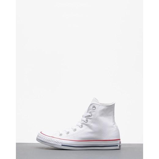 Trampki damskie Converse all star z wysoką cholewką białe wiązane eleganckie