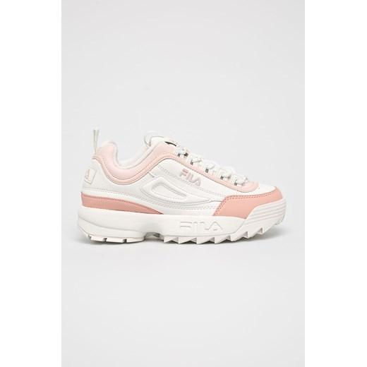 Sneakersy damskie Fila białe sznurowane w Domodi