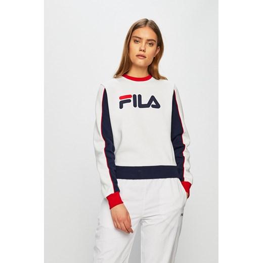 Bluza sportowa Fila biała z poliestru