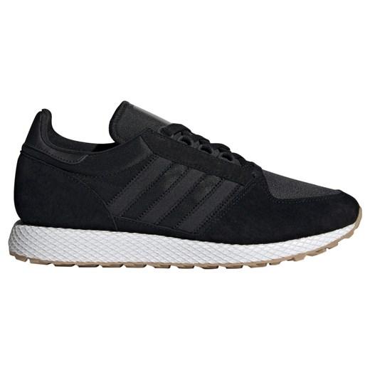 Buty sportowe męskie Adidas Originals sznurowane czarne z nubuku