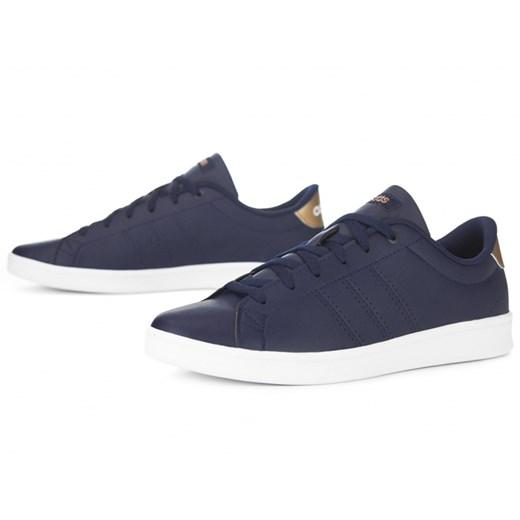 Buty sportowe damskie Adidas sznurowane niebieskie eleganckie